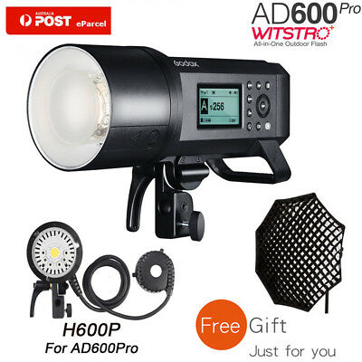 AU Godox AD600Pro 600Ws TTL HSS Outdoor Flash+H600P light head+Free Grid softbox