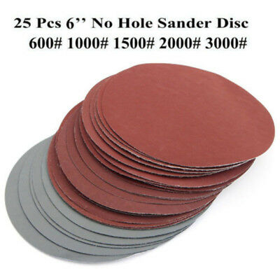 25pcs Hook And Loop 6 Inch 600#1000#1500#2000#3000 Grit Sand Paper Sanding Discs