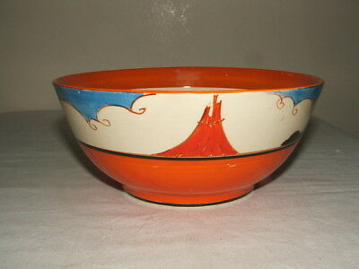 Clarice Cliff Art Deco Bizarre Summerhouse Fruit Bowl Rare &  Stunning