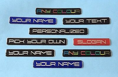 2 x PERSONALISED STICKERS - YOUR TEXT PRINTED & COATED WITH GLOSS DOMED GEL