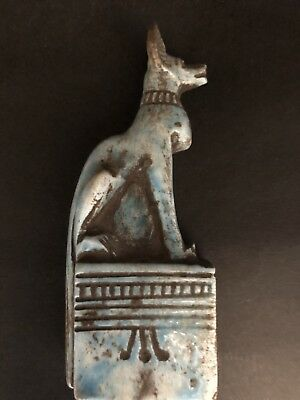 Ancient Egyptian Blue Stone Anubis  (c.3100-c.2890 BC)