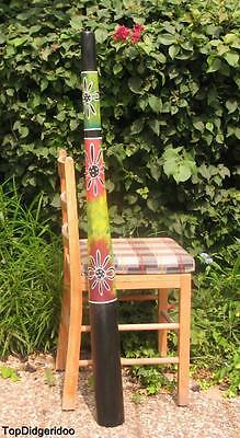 "47 "" 120cm Authentique Teck Didgeridoo + Sac + Cire D'Abeille Mouthpiec"