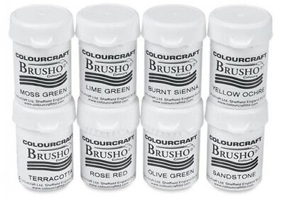 Colourcraft - Brusho Crystal Colour Watercolour Pigment Powder x1 15g - Various