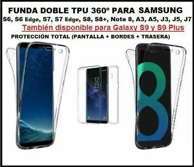 Funda DOBLE 360º SAMSUNG GALAXY S9 s8 plus A8 NOTE 9 8 j3 j5 j7 a3 a5 s6 edge s7
