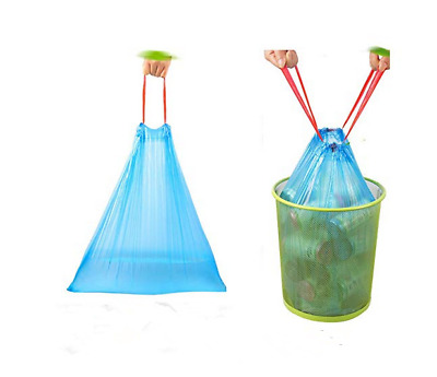 60Ct Drawstring Trash Bags Trash Can Liners Garbage Clean Up for Kitchen Office