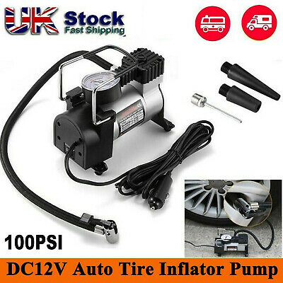 12v Heavy Duty Car Air Compressor 100PSI Tyre Deflator Portable Inflator Pump BO