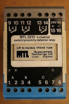 Mtl 2213 3-Channel Switch / Proximity / Detector Relay