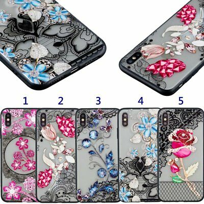 Chic Women Lace Flower Phone Cover Case For IPHONE X/XR/XS MAX/8/7/6 SAMSUNG