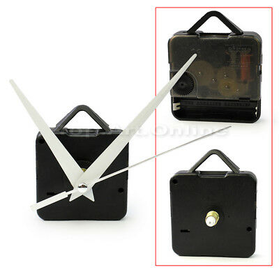 New Black Quartz Clock Movement Mechanism Repair DIY Tool Kit + White Hands