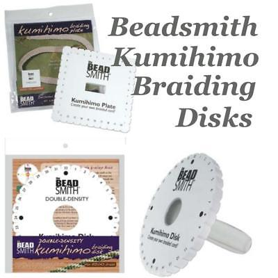 Beadsmith Kumihimo Braiding Disk Choose Round Disc, Square Plate, Kumi-Handle...