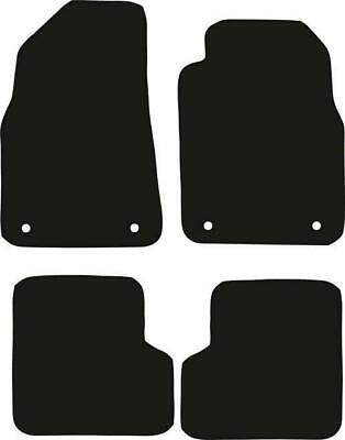 Tailored Black Car Floor Mats Carpets 4pc Set with Clips for MG3 2013 onwards