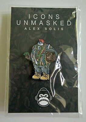 """""""Biggie Unmasked"""" Enamel Pin by Alex Solis - Icons Unmasked - Sold Out / Ltd Ed"""