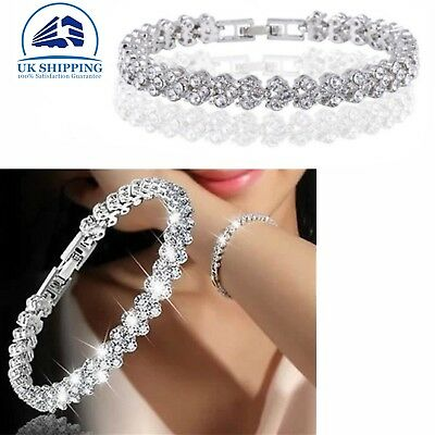 Women Lady Bracelet 925 Sterling Silver Jewellery Classic Solid Bangle Hot Gift