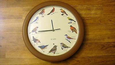 Rare Vintage Antique David Craft Wild Bird Wall Clock Circa 1976 Davidcraft LTD