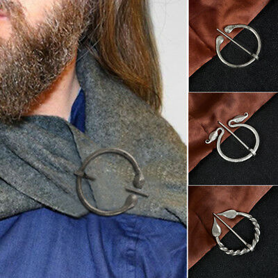 Bronze Viking Pin Brooch Medieval Jewelry Clasp Accessories Retro Cloak Gifts