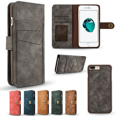 Removable Wallet Case Magnetic Flip Cover for iPhone 11 Pro Max XR XS 6 7 8 Plus