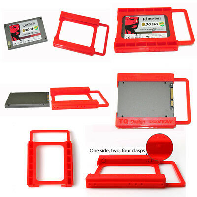 "Mounting HDD Adapter Solid State 2.5""to 3.5"" Tray Bracket SSD Hard Drive Plastic"