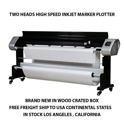 Apparel Marker Plotter  72 inch 2 Heads Inkjet Plotter Compatible Most CAD