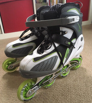 GC Vivess In-Line Roller Blades & Protection Pads - EU 44/45 UK11