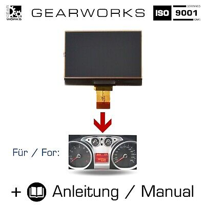 Gearworks Display Ford Galaxy/Wa6 Kuga/1 Tacho/Kombiinstrument Lcd/Bordcomputer