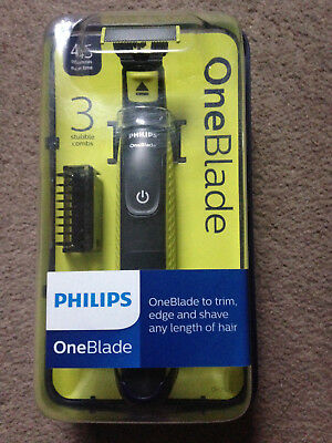 Philips One Blade QP2520/25 Rechargeable Electric Shaver Trimmer Styler 3 Combs
