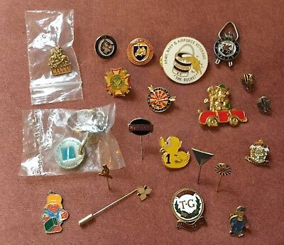 Quality Lot of Higher Value Vintage & Excellent Condition Enamel Badges & Pins.
