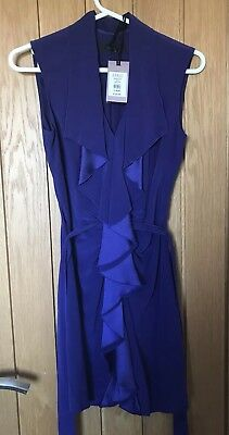 Brand New Coast Purple Cocktail Dress With Tags, Uk 10, Rrp £125