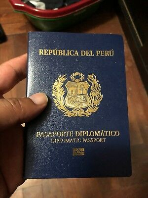Peru Diplomatic Biometric Collectible Passport Mint Condition Very Nice