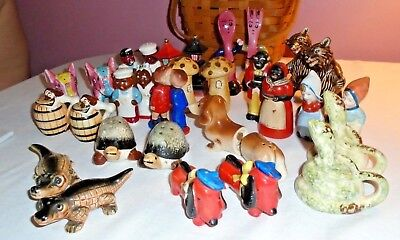 Vintage,salt & Pepper Shakers Lot,japan,alco,anthropomorphic,animals,americana
