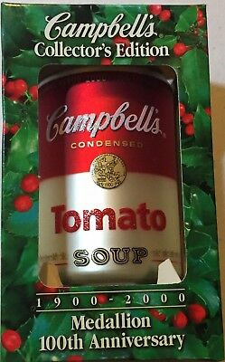 Campbell's 1999 2000 Collectors Edition Tomato Soup Can Christmas Tree Ornament
