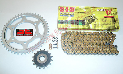 Yamaha FZ1 DID Gold X-Ring Chain & JT RB Front & Rear Sprockets Kit Set