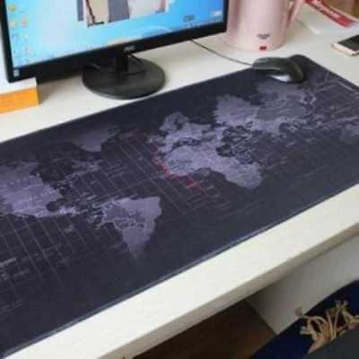 Large World Map Print Computer Gaming MousePad Long Mouse Pad with Basic Type