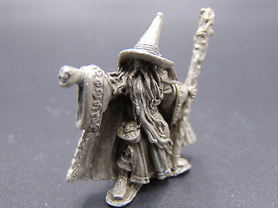 Vintage Pewter Wizard *1987 *PP 708 *Wizard FIST *jeweled staff