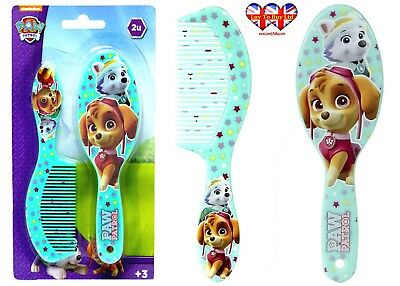 Paw Patrol Green Skye & Everest Hair Brush & Comb Set,Official Licensed