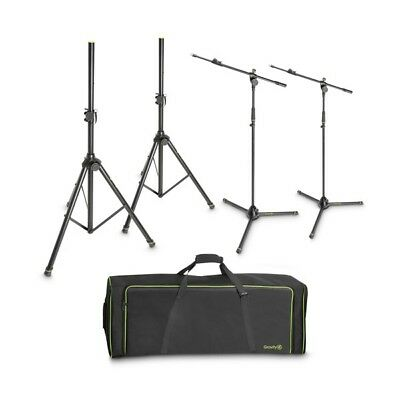 Gravity SSMS SET 1 Set of 2 Speaker & 2 Microphone Stands in Carry Bag