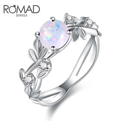Flower Rings Stainless Steel Rings For Women Opal Crystal Middle Fashion Jewelry