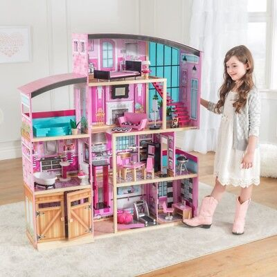Dollhouse Kids Doll House Barbie Size Playhouse Toy Shimmer Mansion Girls Play