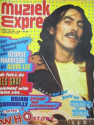 """Brian Connolly (Sweet) - """"muziek Expres"""" 12/1974 (Nl) - Mud - The Who -Alvin Lee"""
