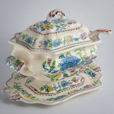 Mason's Regency Plantation OLD COLONIAL Soup Tureen, Cover, Ladle & Underplate