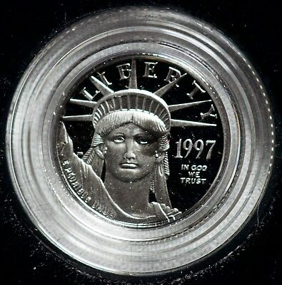 1997 Inaugural Issue United States American Eagle Proof Platinum 1/10 $10 Coin