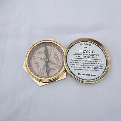 History's most famous Maritime Disaster Titanic Brass Compass