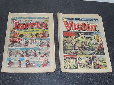 Old Comics Topper Cheeky Cracker Victor Warlord joblot.