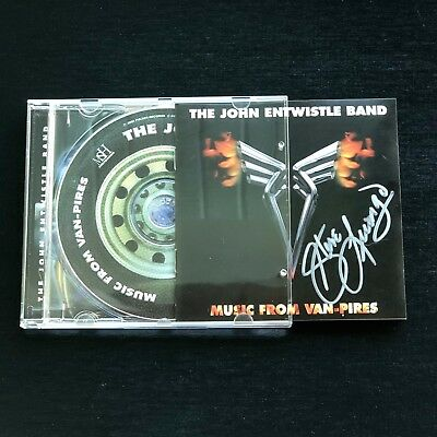"""John Entwistle of """"The Who"""" Solo Band CD Van-Pires Autographed by Steve Luongo"""