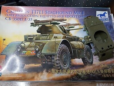 Bronco 35017 Canadian T17E1 Staghound MK.I w/60LB Rocket Launcher in 1:35