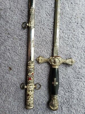 Antique KNIGHTS TEMPLAR SWORD 1882-1925 M C Lilley And Co