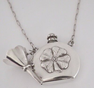 Sterling Silver Perfume Bottle Pendant & Necklace Ari Norman London