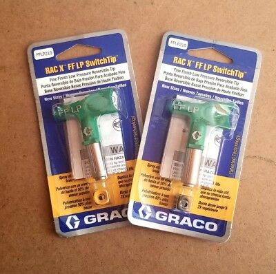 Graco RAC X Fine Finish LP SwitchTip 210, lot of 2 tips