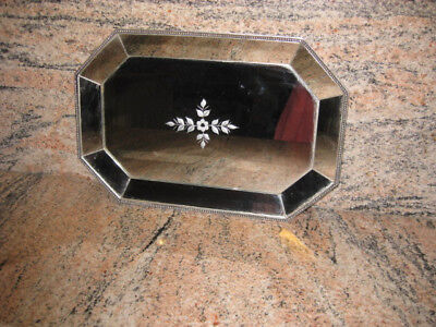 Antique/Vintage Art Deco Mirrored tray /large Plate in very good condition