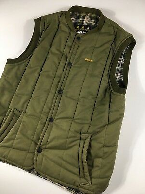 Men's Vintage Barbour Green / Olive Jacket Sleeveless Size - L