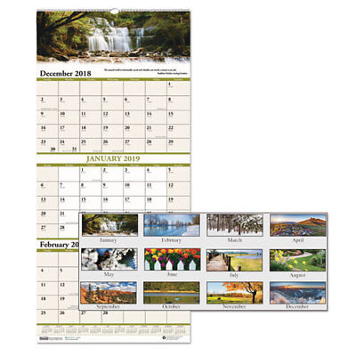 2018 THREE MONTH Calendar 3 Month View With Week Numbers TY13